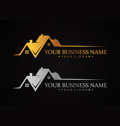 Luxury design symbol for real estate company or vector