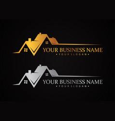 luxury design symbol for real estate company vector image