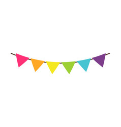 multicolor triangular bright paper garlands flags vector image