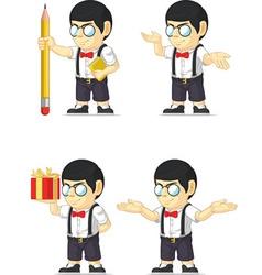 Nerd Boy Customizable Mascot vector