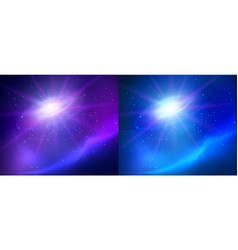 outer space with universe vector image