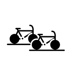 Parking bicycles transport silhouette style icon vector
