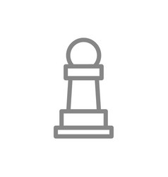 pawn chess line icon board game table vector image
