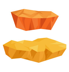 Piece land in form precious mineral vector