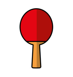 ping pong racket isolated icon vector image