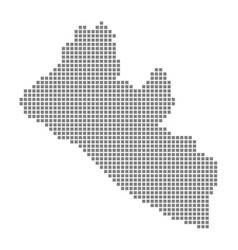 pixel map of liberia dotted map of liberia vector image