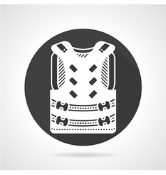 Protective vest black round icon vector