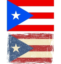 Puerto Rico grunge flag vector