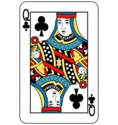 queen of clubs vector image