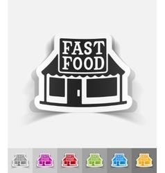 realistic design element FAST FOOD vector image
