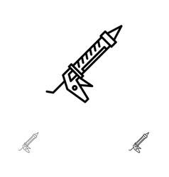 Sealant gun repair construction utensils bold and vector