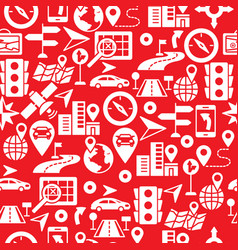seamless pattern with route related vector image