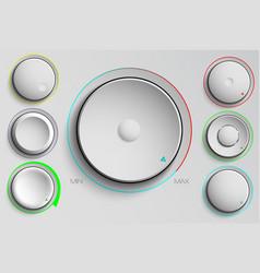Set buttons volume control vector