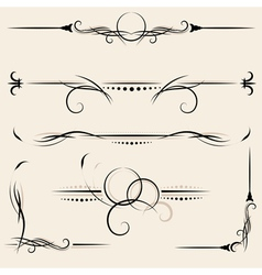 set design elements and page decoration vector image