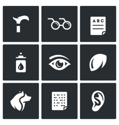 Set of Disability Icons Lameness vector image