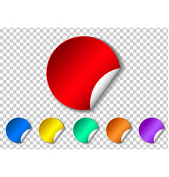 set of sticker with peel off corner isolated on vector image