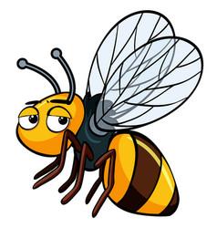 Sleepy bee on white background vector