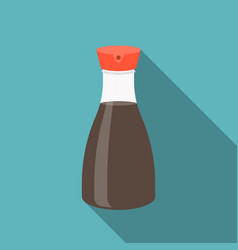 Soy sauce bottle icon vector
