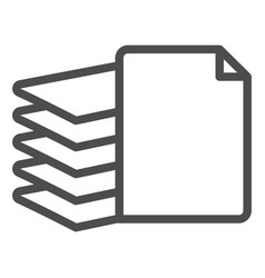 Stack paper line icon files vector
