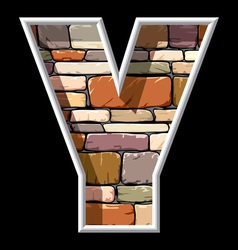 stone letter Y vector image