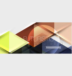 triangle geometrical modern business presentation vector image