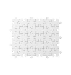 White jigsaw puzzle blank simple background vector