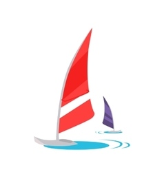 Windsurfing Concept in Flat Design vector