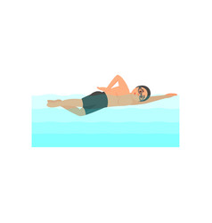 young male athlete swimming in pool professional vector image