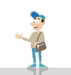 Young man with bag vector