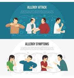 Allergy Banner Set vector image vector image