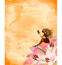 fairies on flowers vector image vector image