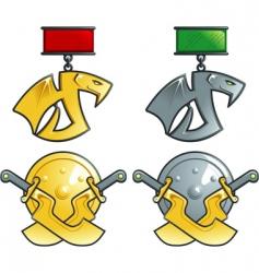 fantasy medals vector image