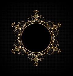 luxury frame background vector image