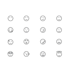 modern circle face set on white vector image