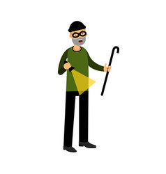 professional masked burglar character with a vector image vector image