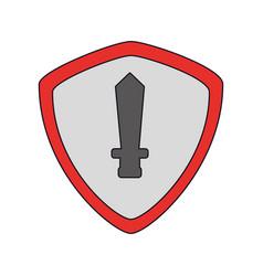 shield icon imag vector image