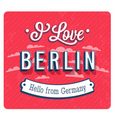 vintage greeting card from berlin - germany vector image vector image