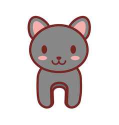 cartoon gray cat animal image vector image