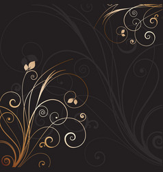 decorative floral background 0612 vector image vector image