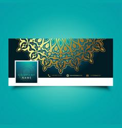 decorative mandala social media timeline cover vector image vector image
