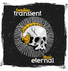 eternal music poster vector image