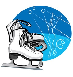 figure skates vector image vector image