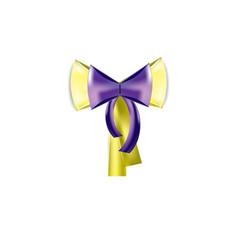 holiday bow ribbon vector image vector image