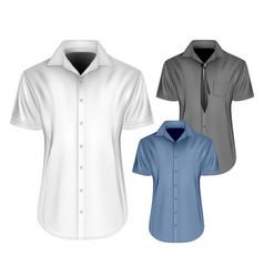 mens short sleeved vector image vector image
