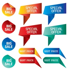 Tab Banner with discount price isolated on vector image