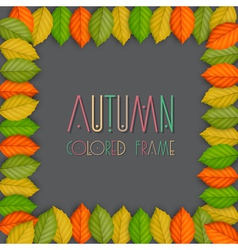 Autumn frame vector image vector image