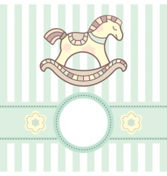 baby card with lovely horsey vector image