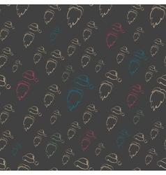 Seamless Flat Design Santa Claus pattern or vector image