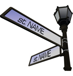 Street Name Post vector image