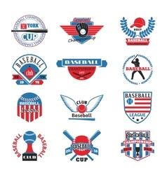 Baaseball badge logo vector image